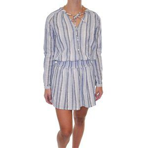 BLUE ISLAND Cotton Striped Smock Waist Dress #Y15